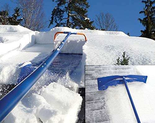 Avalanche! Snow Roof Rake Premium 1000 Package: Easy Snow Removal Combining Complete Original 500 with Rake Head with Wheels and Adapter for Easy Conversion for Better Access to Valleys
