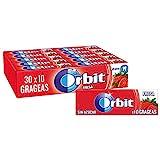 Orbit Chicles Sin Azúcar Sabor Fresa, Afrutado, Intenso y de Larga Duración en formato Gragea (30 paquetes x 10 chicles)
