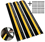 Scinotec Rubber Speed Bumps 3 Pack of 1 Channel 6600Lbs Load Capacity Speed Humps...