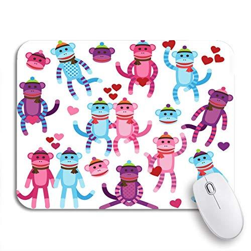 Gaming Mouse Pad Rosa Tier Sammlung von Valentinstag Socke Affen Valentinstag rutschfeste Gummi Backing Computer Mousepad für Notebooks Maus Matten