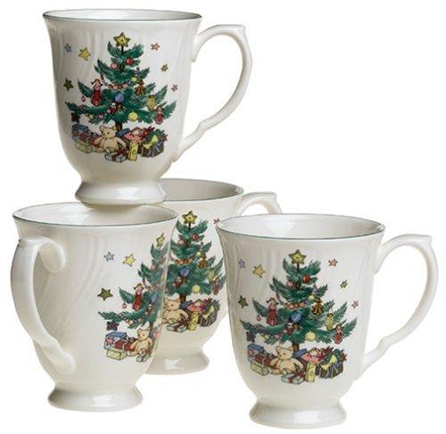 Nikko Ceramics Happy Holidays Coffee Mugs, Set of 4