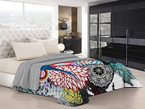 Italian Bed Linen Ki-Osa Trapuntino Estivo con Stampa in Digital a Copertura Totale, 100% Microfibra, Kio-lm01 (Multicolore), Matrimoniale, 260 x 270 cm