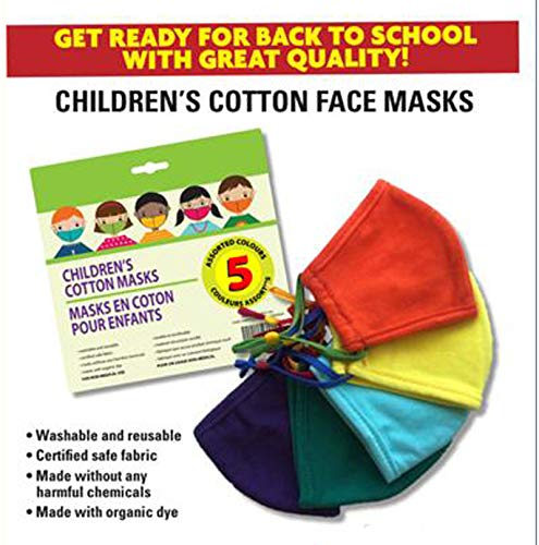 Generic Breathable Children's Cotton Cloth Covering Reusable Mask Washable Comfortable Easy Breathing Adjustable Ear Loops School Kid Outdoor Unisex Children