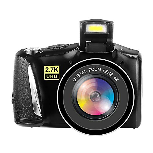Digital Camera Full HD 2.7K Vlogging Camera 48.0 Megapixels Youtube Camera with 4x Digital Zoom and 3.0 Inch Screen Compact Camera for Beginners Photography