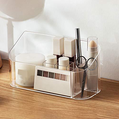 GFFTYX con Compartimento Organizador Joyería Escritorio Alfombra Antideslizante Caja De Maquillaje Tocador En Capas Ahorra Espacio Caja De Estante Escritorio Caja Simplicidad Moderna