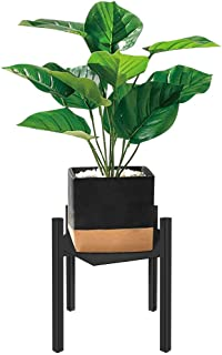 Plant Stand for Indoor and Outdoor, Wrought Iron, Tiered Planet Stands, Flower Pots, Metal Potted Holder for Garden, House, Patio. Tall Planet Stand Display Up to 10 Inch Planter - Black