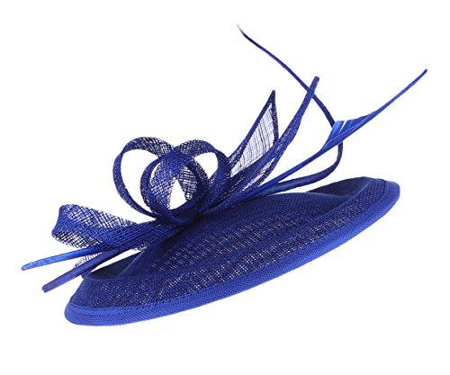 EOZY Mujer Tocado de Boda Pluma Fiesta Sombrero Vintage Azul