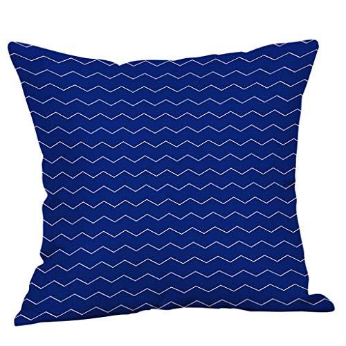 Kussenslopen kussensloop blauw 45x45 cm kussensloop pentagram patroon patroon patroon patroon patroon patroon ideaal als decoratief kussen, kinderkamer sierkussen verborgen ritssluiting By Vovotrade