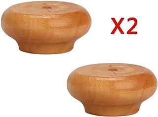 4パックニス木製キャビネットフットパッドテーブル高椅子木製ソファフットコーヒーテーブルレッグサポート脚木製ベッド家具フット高さ2cm / 4cm / 6cm
