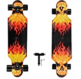 asktom Longboards Skateboard 31 Inch pro Longboard Skateboards Complete Carving Cruiser for Cruising, Carving, Freestyle and Downhill T-Tool Included