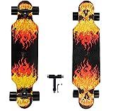 31 Inch Longboard Skateboard pro Longboards Cruiser Skateboards for Beginners Kids Teens T-Tool Included