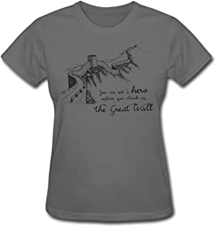 Women's The Great Wall Of China T Shirt DeepHeather