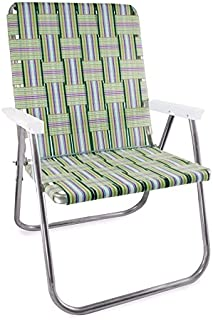 Lawn Chair USA Webbing Chair (Magnum, Spring Fling with White Arms)
