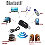 Techgadget Wireless USB Bluetooth Receiver Adapter Dongle for Home Theatre Car Speakers MP3
