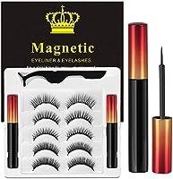 Ciglia Magnetiche Con Eyeliner Magnetico Kit, 5 Paia Di Ciglia Finte Naturali E Di Lunga Durata, Ciglia Finte Magnetiche...