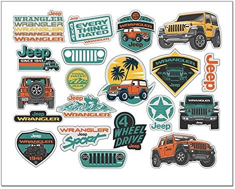 Jeep Wrangler Decal Sheet product image
