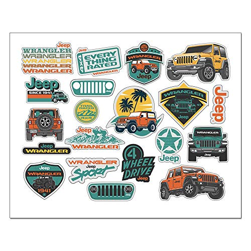 Jeep Wrangler Decal Sheet