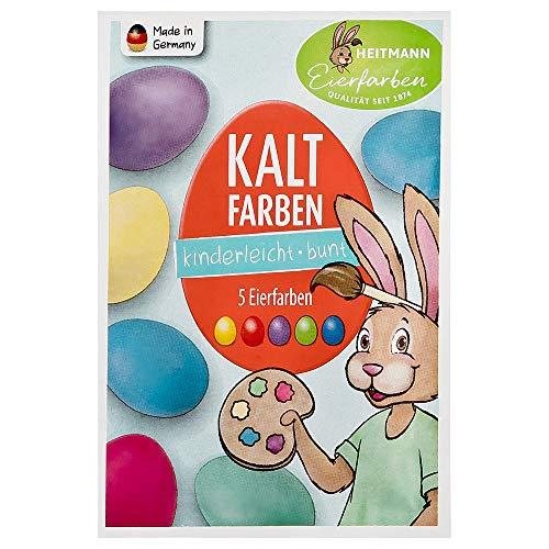 Heitmann Eierfarben Kaltfarben - Ostern - Ostereier bemalen, Ostereierfarbe - Grün, Blau, Gelb, Rot, Violett