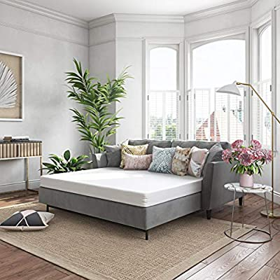 Classic Brands 4.5-Inch Cool Gel Memory Foam Replacement Mattress for Sleeper Sofa Bed Queen
