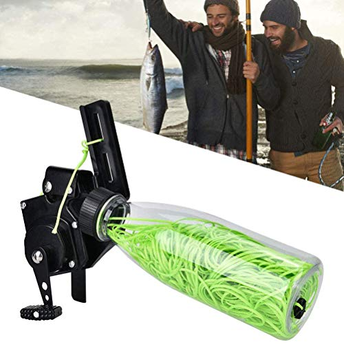 Fovely Carrete de Pesca Cuerda de Pesca Pot Bow Carrete de Pesca con 40m Cuerda Bowfishing Tool para Arco Compuesto Recurve Bow Hunting Fishing Tackle Accesorios