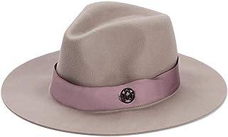 48c3c3a22d4650 Wool Felt Fedora Hats for Men Women Unisex Classic Wide Large Brim Trilby  Panama Jazz Hat
