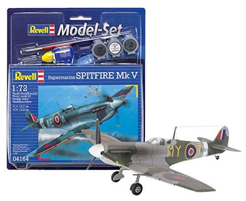 Revell - Maqueta Modelo Set Spitfire MK V, Escala 1:72 (64164)