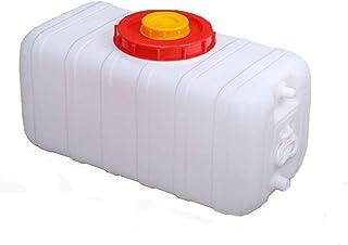 Récipient de Stockage d'eau de Grande capacité 400L, Seau en Plastique avec Couvercle et Valve Réservoir d'eau de Camping-...