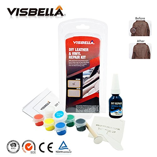 Kit de reparación de cuero, restauración de rasguños y grietas de manchas Kit de cambio de color de cuero líquido para sofá restaurador sofá asiento de automóvil su chaqueta bolso cinturón zapatos