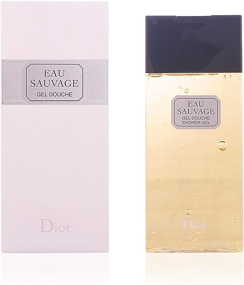 Dior eau sauvage, bagnoschiuma piu` gel douche, 200 ml,per uomo 3348901250122