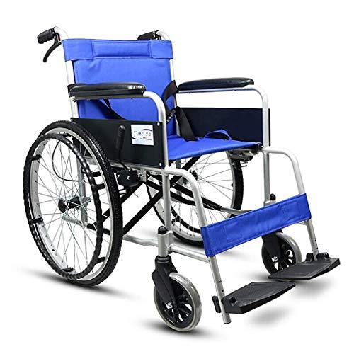 TWL LTD-Wheelchairs Transport im Rollstuhl Reisen Selbstfahrender Rollstuhl Tragbarer Kellner Abnehmbarer Leichter Klappwagen mit Schiebehilfe