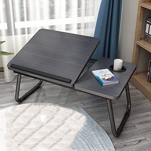 JONJUMP Mesa para ordenador portátil simple con ventilador para cama, sofá, plegable, ajustable, escritorio para ordenador portátil en la cama