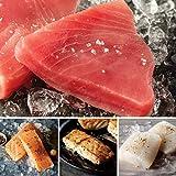 The Ocean's Bounty from Omaha Steaks (Yellowfin Tuna Steaks, Faroe Islands Salmon Fillets, Wild Grouper Fillets, and Icelandic Cod Fillets)