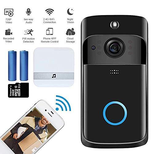 M-TOP Video Türklingel WLAN Alexa, Ring Doorbell Pro Chime, Türspion Kamera mt Bewegungsmelder, 1080p HD-Video, Funktürklingel Gegensprechfunktion