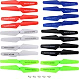 Studyset 5 Colors Spare Parts 20pcs Main Blade Props Propellers with Mounting Screws for Syma X5 X5C X5C-1 Quadcopter RC Mini Quadcopter Toy
