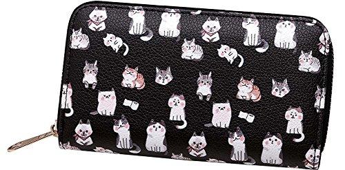Ladies wallet zip portefeuille long portefeuille pour les femmes