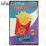 Pfannkuchen Plaque Metall Vintage Burger Metallschild Hot