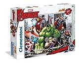 Clementoni - Maxi Puzzle, diseño Vengadores/Avengers Super Color, 104 Piezas (236886)