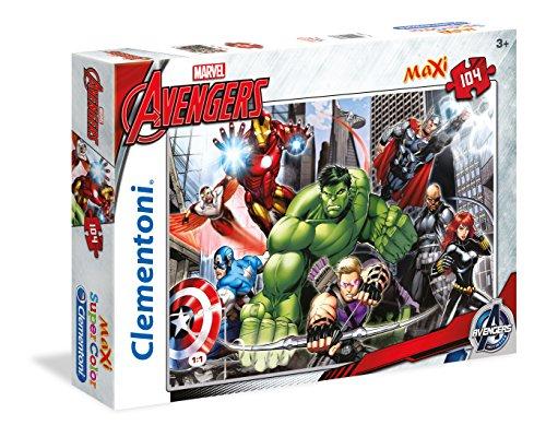 Clementoni- Avengers Maxi Supercolor Puzzle, 104 Pezzi, 23688