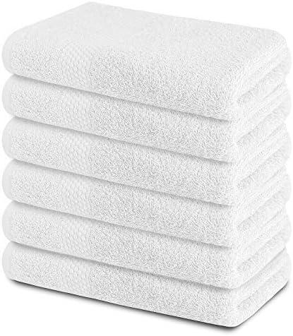 Las Vegas Mall Bath Towels 24x48 Bargain White Pack-6