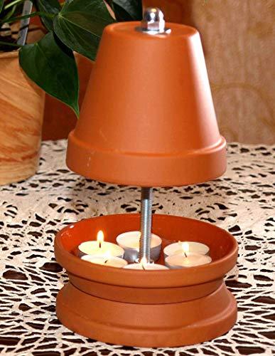 ▀ Teelichtofen ▀ für bis zu 6 Teelichter Teelichtheizung Teelichtkamin bemalbar Mückenschutz Garten Terrasse Kerzenofen Tischkamin bekannt aus Stern TV Duft Kerzen Heizung Wohnzimmer Ofen Deko