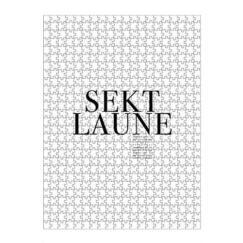 artboxONE Ravensburger-Puzzle L (500 Teile) Typografie Sektlaune - Puzzle Sekt Prosecco Alkohol