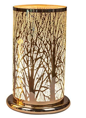 Lámpara de mesa de Navidad para dormitorio, salón o comedor con sensor táctil, función de intensidad regulable, casquillo E27, ancho 15 cm, altura 24 cm