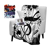 Britimes Music Note Fuzzy Flannel Throw Blankets, Soft Blankets and Throws, Daughter Mom Friend Gift Music Note Print Decorative Throw Blankets for Couch, 50'X60'
