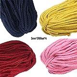 Yongyong Macrame Cuerda 100% Natural, Cordón De 5 Mm X 360 M Cordón De Cuerda De Algodón De Colores para Manualidades DIY,Natural