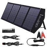SUAOKI 80W Panel Solar portátil con Carga Rápida 3.0 USB-C 45W PD Salida, Cargador Solar Plegable, Panel Solar monocristalino para Generador Solar de SUAOKI