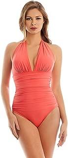Magicsuit Women's Magic Solids Claudia One Piece Halter Swimsuit