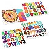 Achort 94PCS Letras magnéticas y números, Alfabeto imanes de Nevera niños Aprendizaje Juguetes educativos Incluye mayúsculas, minúsculas y símbolos matemáticos, Juguetes magnéticos para Niños
