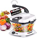 Mueller Ultra Heavy Duty Chopper/Cutter, Fastest, Easiest to Use, Chops Everything, Vegetable, Nuts, Herbs with Built-In...