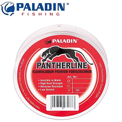 Paladin Fluo-Carbon-Vorfachschnur 30m 0,35mm 16kg - Fluo Angelschnur für Vorfächer zum Spinnangeln, Fluorocarbon Vorfächer Vorfach