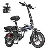 2021 New Electric Bike 14 inches Advanced Ebike with 350W high-Performance Motor 3 Riding Modes for Adults and Teenagers, Folding Ebike with Pedals